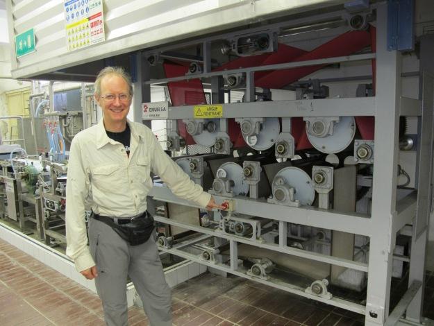 Bill ready to shut down production ;-) (Juan Barbé photo)