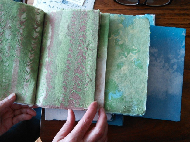Carmen's forest book made entirely with pulp paintings.