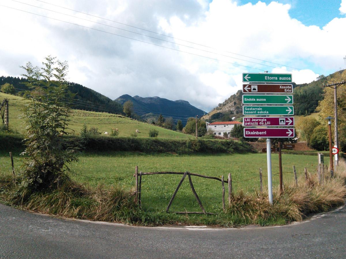 The road to the Ekain Berri caves.