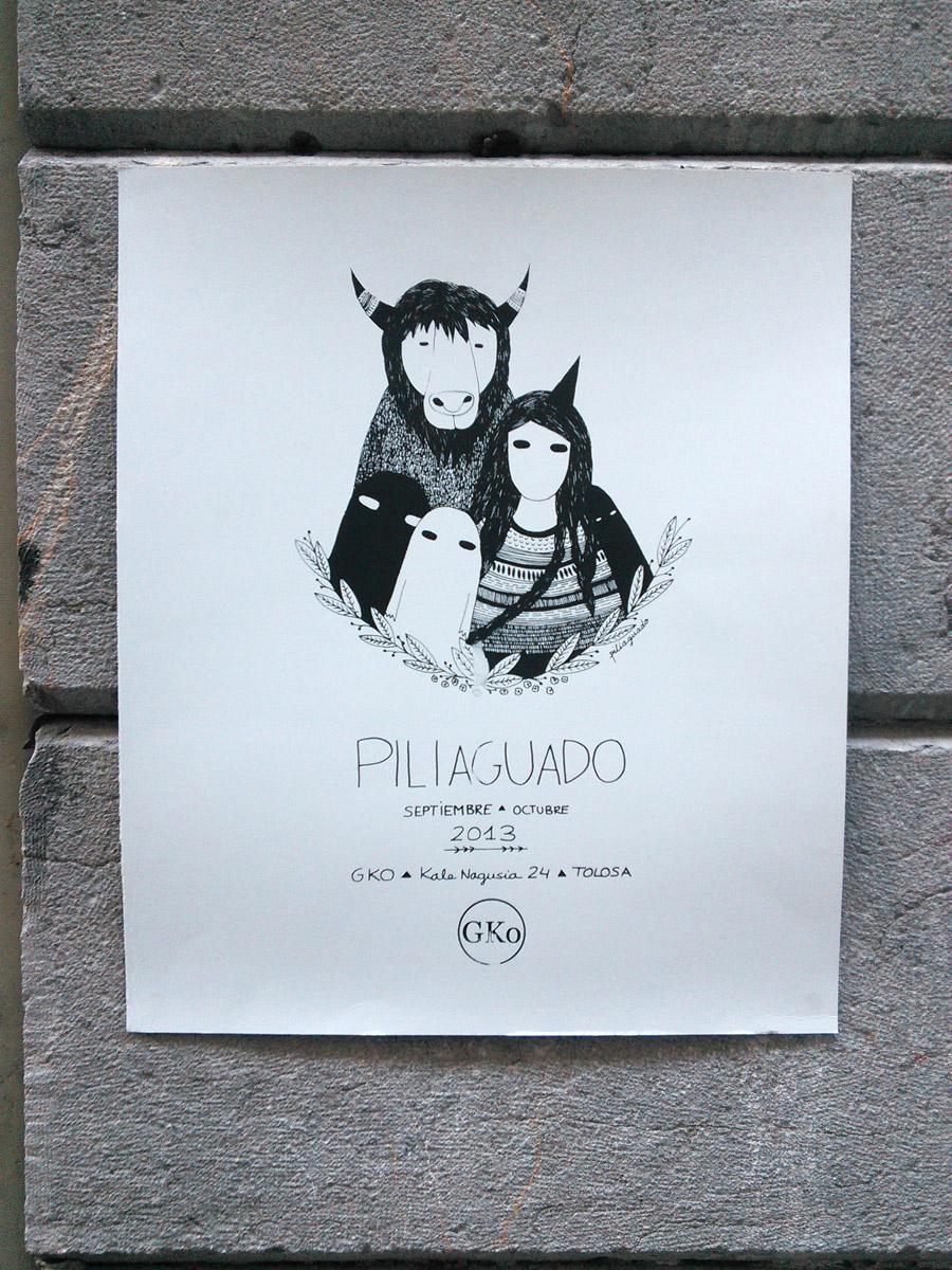 A lovely hand silkscreened poster produced by GKo Gallery at Boxa Arte Elkarte studios.