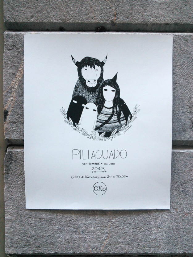 A lovely hand silkscreened poster produced by GKo Gallery at Boxa Arte Elkarte studios.