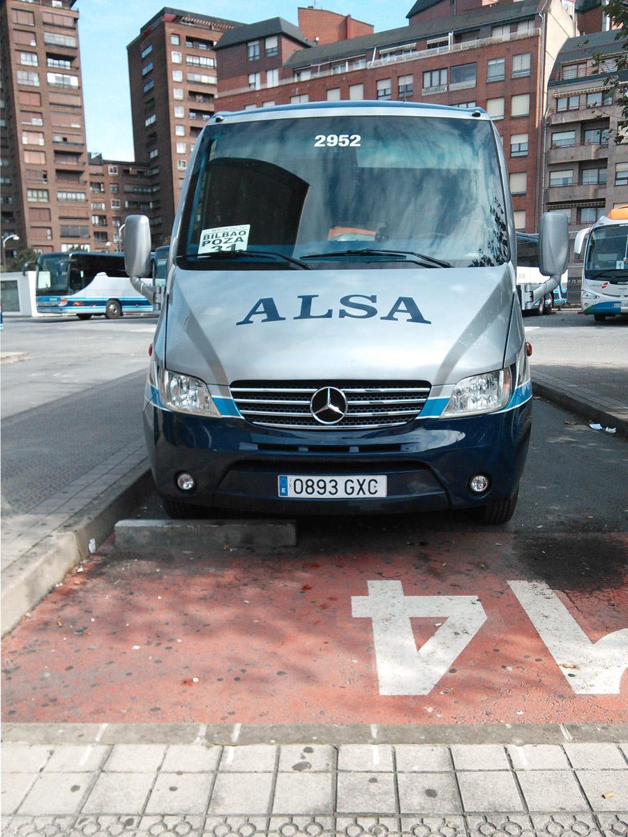 The Bilbao-Poza de la Sal bus waiting at Termibus, Bilbao.