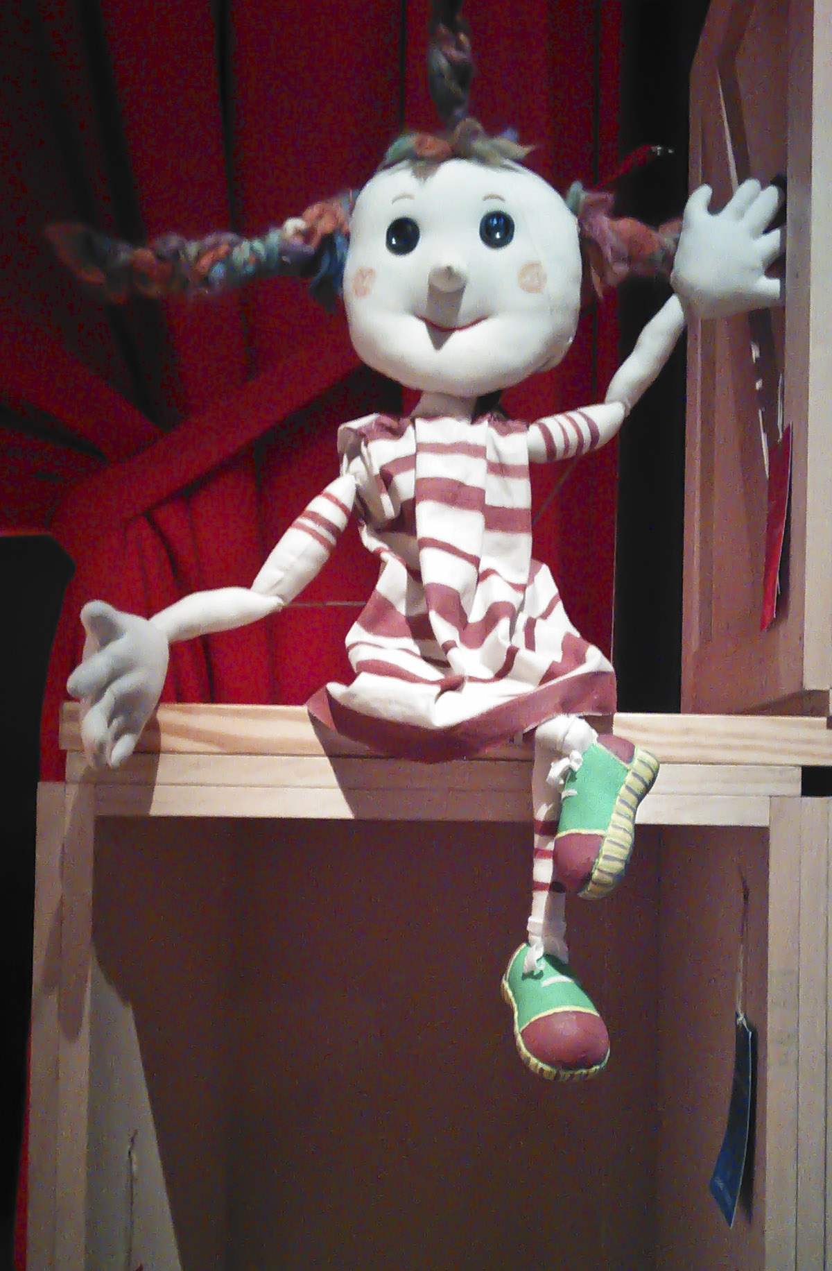 The mascot puppet at TOPIC.