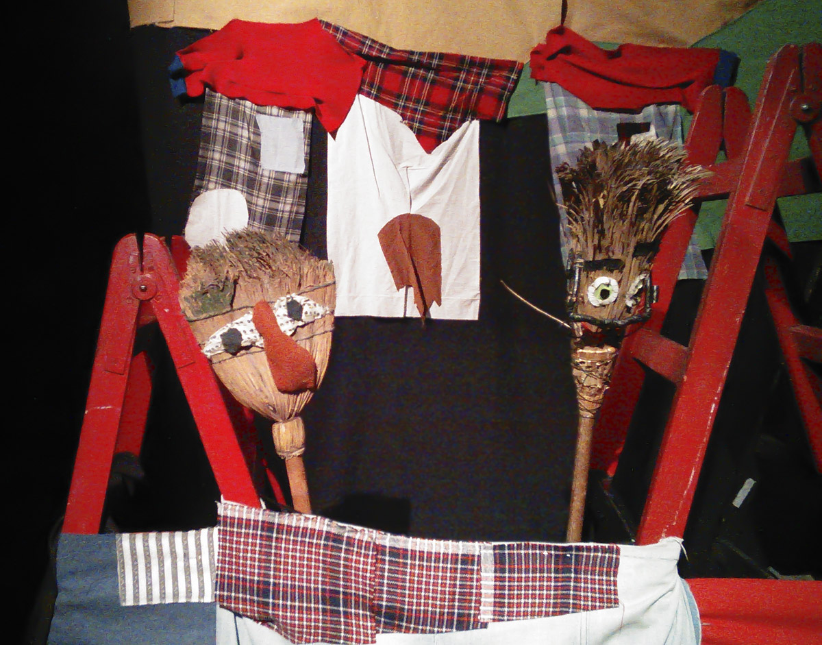 Low tech puppets at TOPIC.