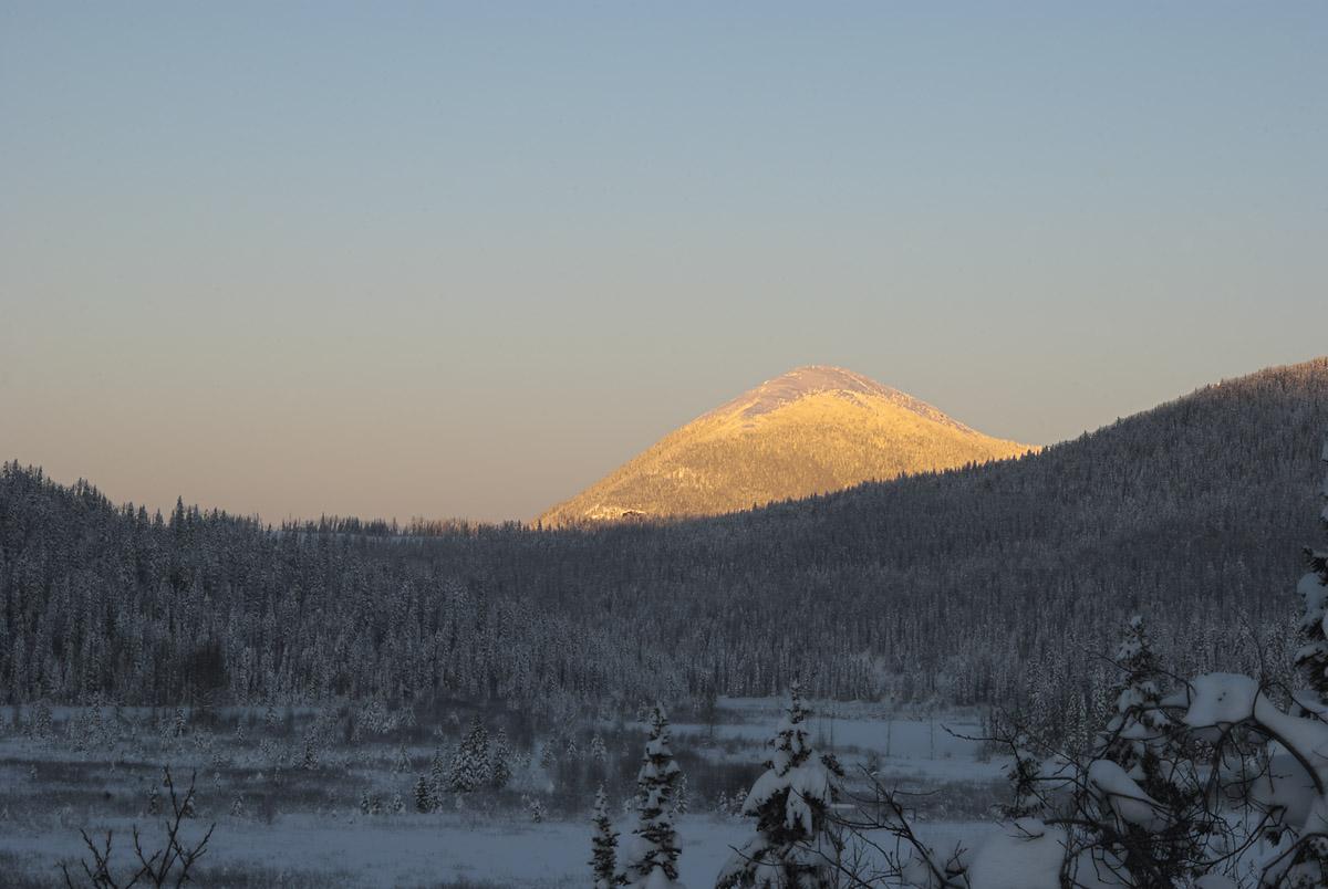 Slide Mountain alpenglow, fall 2014.