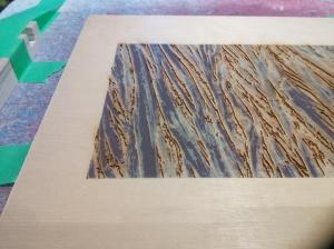 Closeup of yellow cedar; one more colour to print.