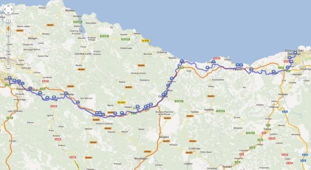 The main Euskotren route (does not show the Gernika/Bermeo spur line).